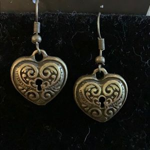 Antique heart earrings